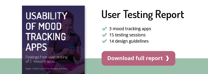 mood tracking apps user testing report