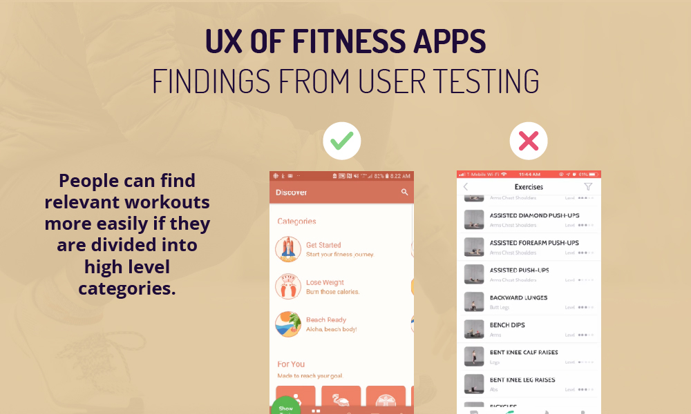 fitness app ui findings 2