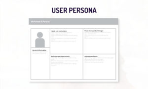 healthcare app development user persona template