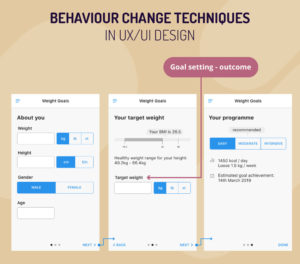 Behaviour change techniques in ux.ui design